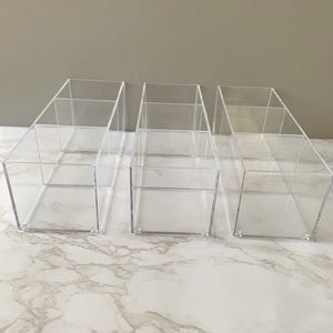 Other - 3 Set Cube Case Clear Organizer